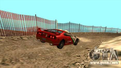 Rally Jester para GTA San Andreas vista posterior izquierda