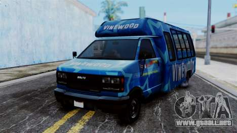 Vinewood VIP Star Tour Bus para GTA San Andreas
