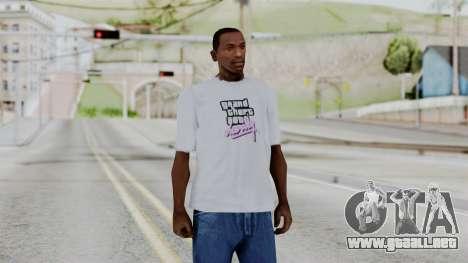 GTA Vice City T-shirt White para GTA San Andreas