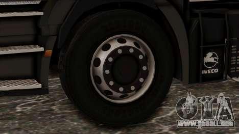 Iveco EuroStar Low Cab para GTA San Andreas vista posterior izquierda