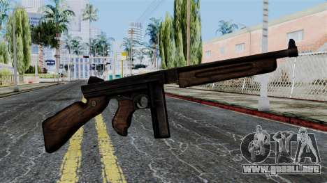 Thompson from Battlefield 1942 para GTA San Andreas tercera pantalla