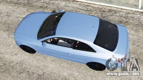 GTA 5 Audi S5 Coupe vista trasera