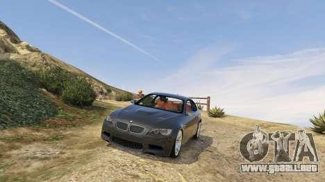 GTA 5 BMW M3 E92 Performance Kit [Beta] 0.1 vista trasera