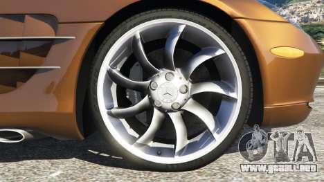 GTA 5 Mercedes-Benz SLR McLaren 2015 vista lateral trasera derecha