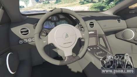 GTA 5 Lamborghini Reventon Roadster [Beta] delantero derecho vista lateral