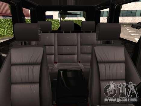 Mercedes-Benz G500 para la vista superior GTA San Andreas