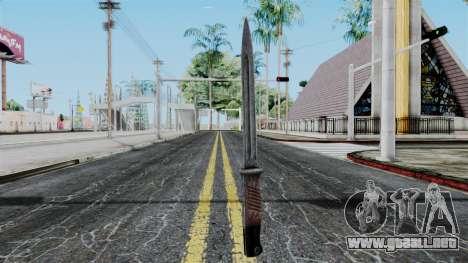 KAR 98 Bayonet from Battlefield 1942 para GTA San Andreas segunda pantalla