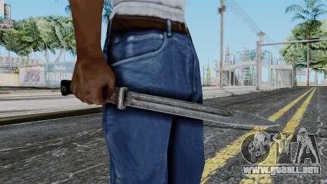 KAR 98 Bayonet from Battlefield 1942 para GTA San Andreas tercera pantalla