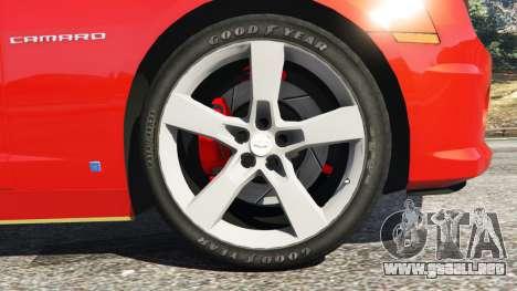 GTA 5 Chevrolet Camaro SS 2010 [Beta] vista lateral trasera derecha