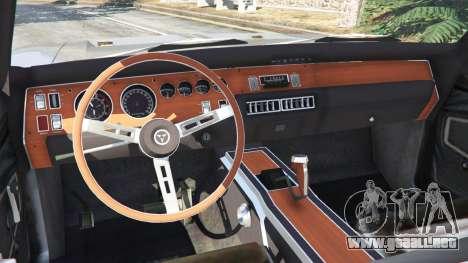 GTA 5 Dodge Charger RT SE 440 Magnum 1970 vista lateral trasera derecha