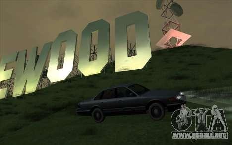 Ford Crown Victoria 1995 SA de Estilo para GTA San Andreas vista hacia atrás