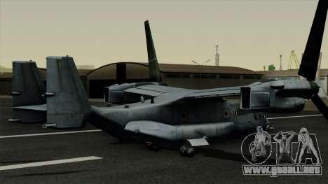 MV-22 Osprey para GTA San Andreas left