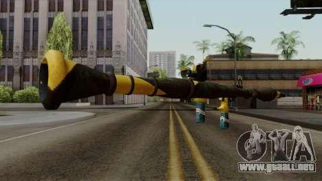 Brasileiro Rocket Launcher v2 para GTA San Andreas tercera pantalla