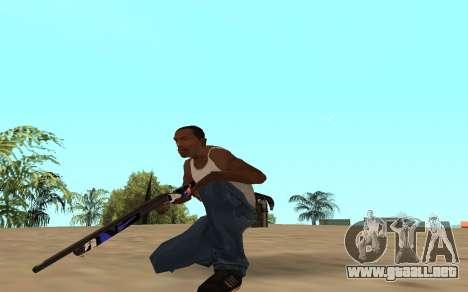 Escopeta con un cachorro de tigre para GTA San Andreas tercera pantalla