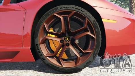 GTA 5 Lamborghini Aventador LP700-4 2012 vista lateral trasera derecha