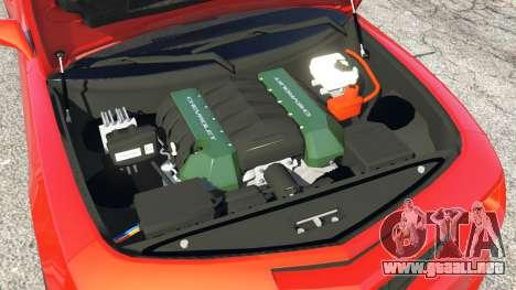 GTA 5 Chevrolet Camaro SS 2010 [Beta] delantero derecho vista lateral