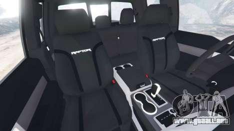 GTA 5 Ford F-150 SVT Raptor 2012 vista lateral derecha