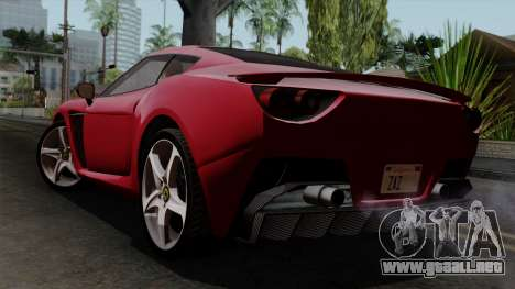 Grotti Carbonizzare FF para GTA San Andreas left