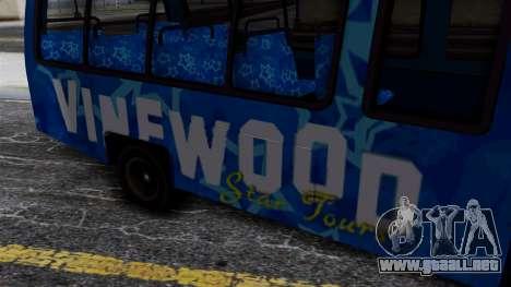 Vinewood VIP Star Tour Bus para la visión correcta GTA San Andreas