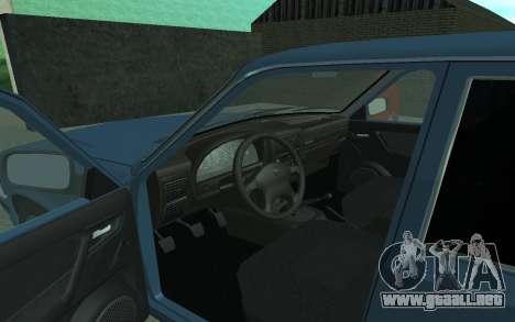 GAS 3110 Volga para GTA San Andreas vista hacia atrás