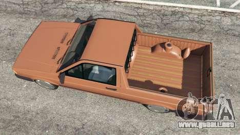 GTA 5 Volkswagen Saveiro Cli 1.6 [Edit] vista trasera