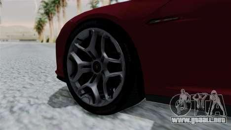 Lamborghini Asterion Concept 2015 v2 para GTA San Andreas vista posterior izquierda