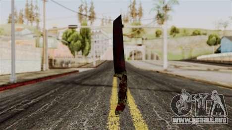 Nuevo cuchillo ensangrentado camo para GTA San Andreas
