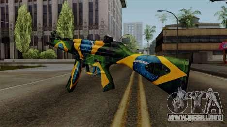 Brasileiro MP5 v2 para GTA San Andreas segunda pantalla