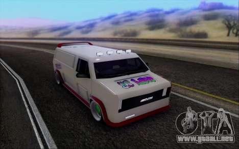 Burrito So Low para GTA San Andreas vista hacia atrás