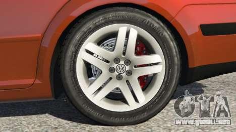 GTA 5 Volkswagen Bora vista lateral trasera derecha