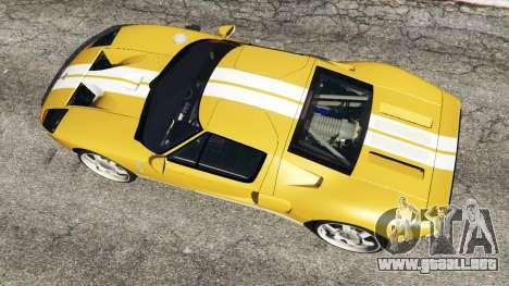 GTA 5 Ford GT 2005 v1.1 vista trasera