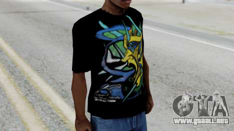 T-shirt from Jeff Hardy v1 para GTA San Andreas segunda pantalla