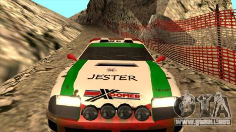 Rally Jester para GTA San Andreas vista hacia atrás