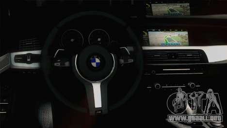 BMW M5 F10 Grey Demon para visión interna GTA San Andreas