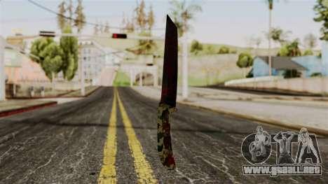 Nuevo cuchillo ensangrentado camo para GTA San Andreas segunda pantalla