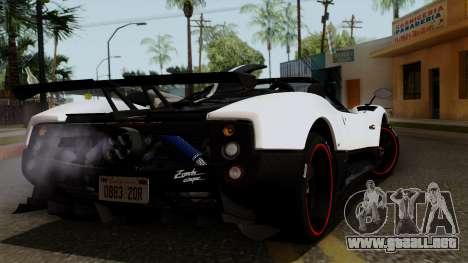 Pagani Zonda Cinque Roadster para GTA San Andreas left