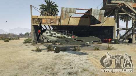 GTA 5 Messerschmitt BF-109 E3 v1.1 tercera captura de pantalla