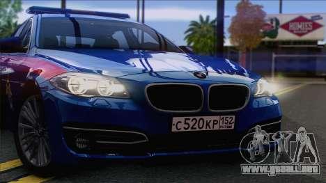 BMW 520 Comité de Investigación para GTA San Andreas vista posterior izquierda
