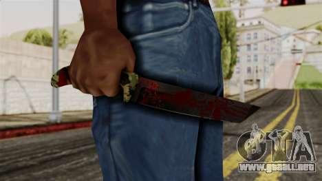 Nuevo cuchillo ensangrentado camo para GTA San Andreas tercera pantalla