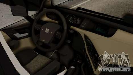 Volvo FH Euro 6 10x4 High Cab para la visión correcta GTA San Andreas