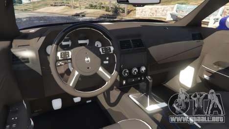 GTA 5 Dodge Challenger SRT8 2009 v0.3 [Beta] vista lateral trasera derecha