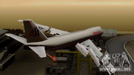 Boeing 747-100 American Airlines para GTA San Andreas left