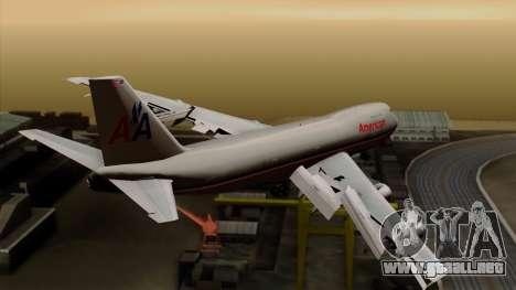 Boeing 747-100 American Airlines para GTA San Andreas left