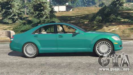 GTA 5 Mercedes-Benz S550 W221 v0.4.2 [Alpha] vista lateral izquierda