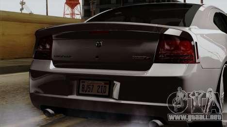 Dodge Charger 2006 DUB para vista lateral GTA San Andreas