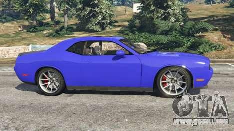 GTA 5 Dodge Challenger SRT8 2009 v0.3 [Beta] vista lateral izquierda