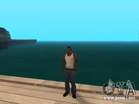 De color verde oscuro realistas de agua para GTA San Andreas tercera pantalla