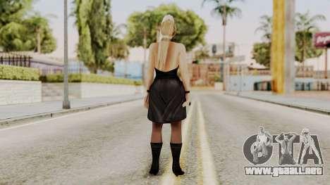 DOA 5 Sarah BlackDress para GTA San Andreas tercera pantalla