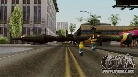 Brasileiro Rocket Launcher v2 para GTA San Andreas segunda pantalla