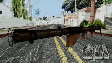 Bazooka from Battlefield 1942 para GTA San Andreas segunda pantalla